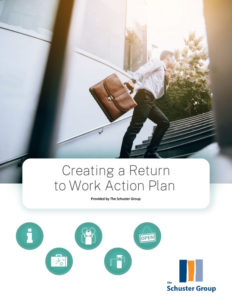 Creating a return to work action plan